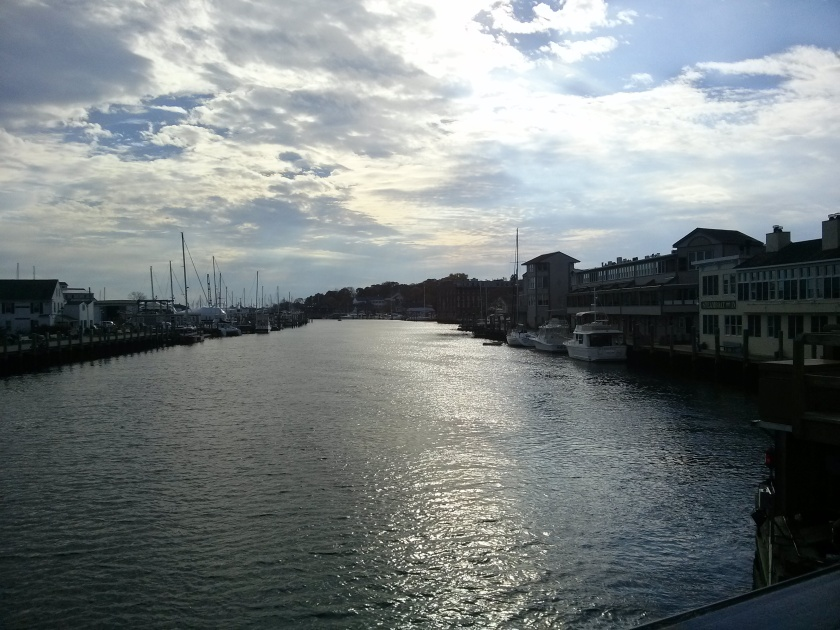 View of the Mystic River, taken from the historic downtown drawbridge.