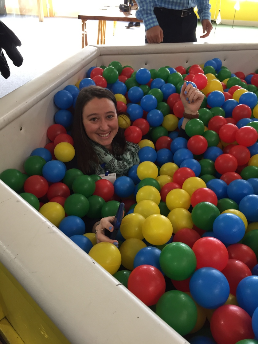 Katie in ball pit