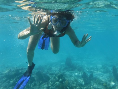 A snorkeling excursion during the Offshore voyage.