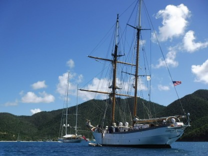 The Cramer at port in the US Virgin Islands.